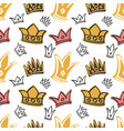 cute princess birthday seamless pattern vector image vector image