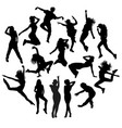 dancer silhouettes vector image vector image