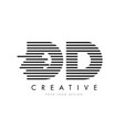dd d d zebra letter logo design with black and vector image