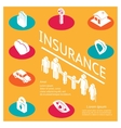 Family insurance concept vector image vector image