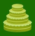 flat shading style icon wedding cake vector image