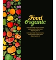fruits and vegetables organic food vector image