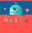 funny monster graphics vector image