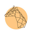 geometric head of a giraffe side view vector image vector image