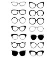 glasses kitty icon set vector image vector image