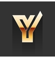 Gold Letter Y Shape Logo Element vector image