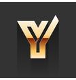 Gold Letter Y Shape Logo Element vector image