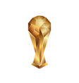 golden soccer cup on a white background vector image vector image