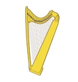 Gothic lever celtic harp vector image vector image