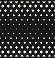 halftone seamless pattern with rhombuses vector image