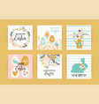 happy easter templates with lettering vector image vector image