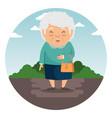 happy grandmother cartoon vector image vector image