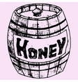 honey pot vector image vector image