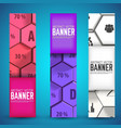infographic web geometric vertical banners vector image vector image