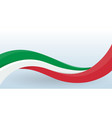 italy waving national flag modern unusual shape vector image