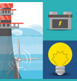 landscape related with tidal energy batery and vector image vector image