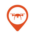 location icon drone flat eps 10 vector image vector image