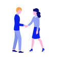 man woman handshake icon vector image vector image