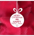 Merry Christmas ball card abstract red background vector image vector image