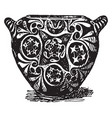 minoan vase from knossos vintage engraving vector image vector image