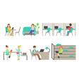 modern coworking center people mettingtalking vector image vector image