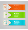 Modern numbered options banners vector image