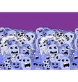 Monsters pattern border vector image vector image