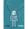 Outer Space Astronaut in Love Line Art Romantic vector image