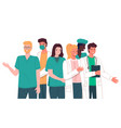portrait doctors and nurses characters set vector image vector image