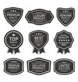 quality product seal badges and labels vector image vector image