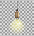 realistic glow bulb vector image vector image