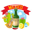 round composition about mexico vector image
