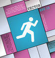 running man icon sign Modern flat style for your vector image vector image