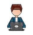 scribble man faceless cartoon vector image vector image