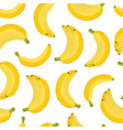 seamless pattern banana cartoon flat style vector image vector image