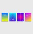 set multicolored halftone abstract cover design vector image
