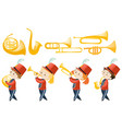 set of children playing musical instruments vector image vector image