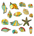shell seamless background vector image vector image