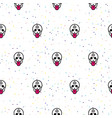 skull funny seamless pattern vector image vector image