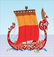 Slavic boat vector image vector image