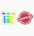 spectrum dot box icon and distress surprise vector image vector image