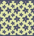 spring flowers repeat pattern pattern vector image vector image
