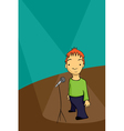 Stand up comedian vector | Price: 1 Credit (USD $1)