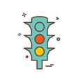 traffic icon design vector image vector image