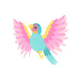 tropical parrot bird with iridescent plumage vector image vector image