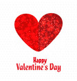 valentines day greetings card vector image