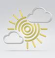 weather partly sunny vector image vector image