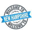 welcome to New Hampshire blue round vintage stamp vector image vector image