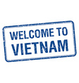 welcome to Vietnam blue grunge square stamp vector image vector image