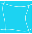 White rope square frame vector image vector image